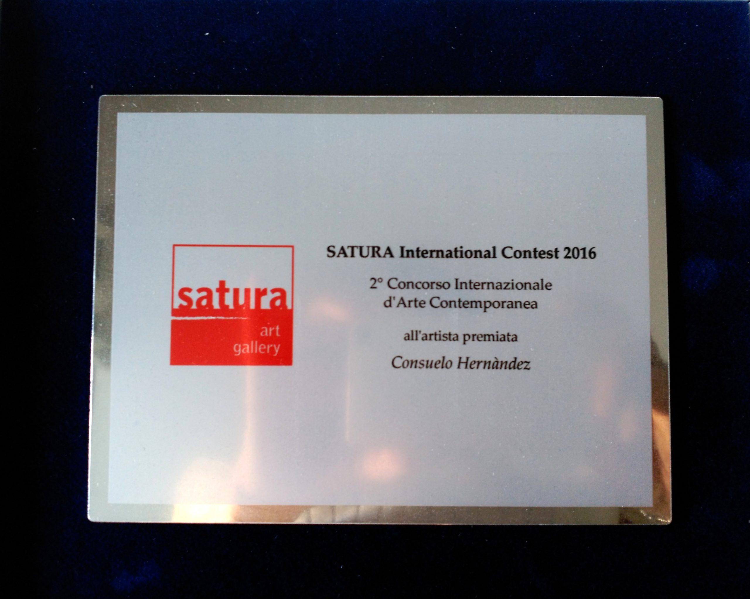 Placa del premio Satura